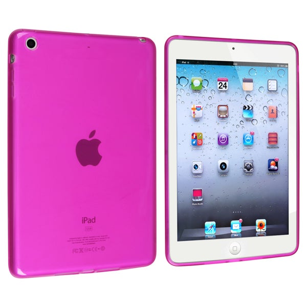 BasAcc Frost Clear Hot Pink TPU Rubber Case for Apple® iPad Mini