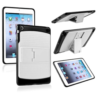 BasAcc White/ Black TPU Hybrid Case with Stand for Apple� iPad Mini