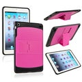 BasAcc Hot Pink/ Black TPU Hybrid Case with Stand for Apple� iPad Mini