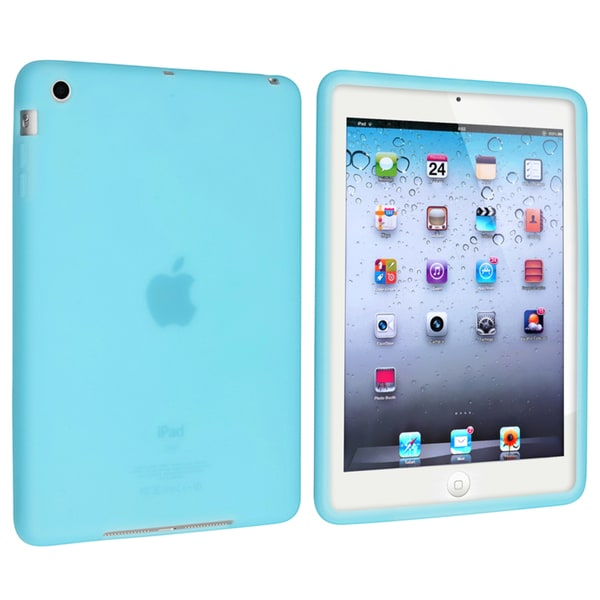 INSTEN Sky Blue Soft Silicone Tablet Case Cover for Apple iPad Mini 1/ 2 Retina Display