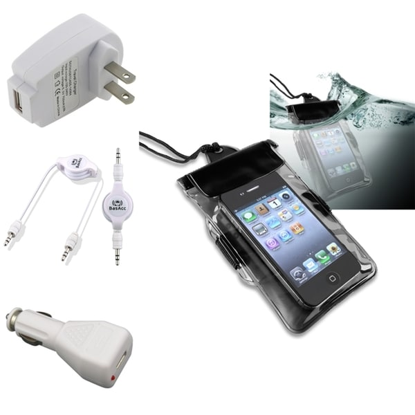 INSTEN Waterproof Case Cover/ Chargers/ Cable for HTC EVO 4G LTE/ One X