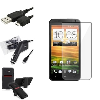 BasAcc Holster/ LCD Protector/ Cable/ Charger for HTC EVO 4G LTE