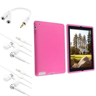 INSTEN Tablet Case Cover/ Headset/ Splitter for Apple iPad 2