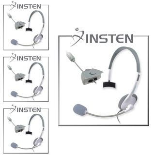 INSTEN White Headset with Microphone for Microsoft xBox 360/ Slim (Pack of 4)