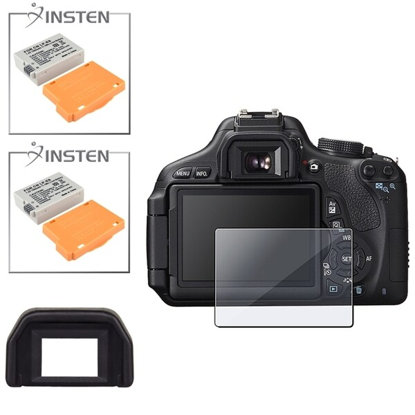 INSTEN Battery/ Eyecup/ Protector for Canon EOS Rebel T3i/ 600D