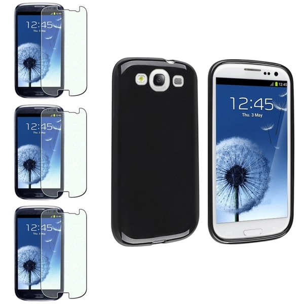 INSTEN TPU Phone Case Cover/ Diamond LCD Protector for Samsung Galaxy S III/ S3