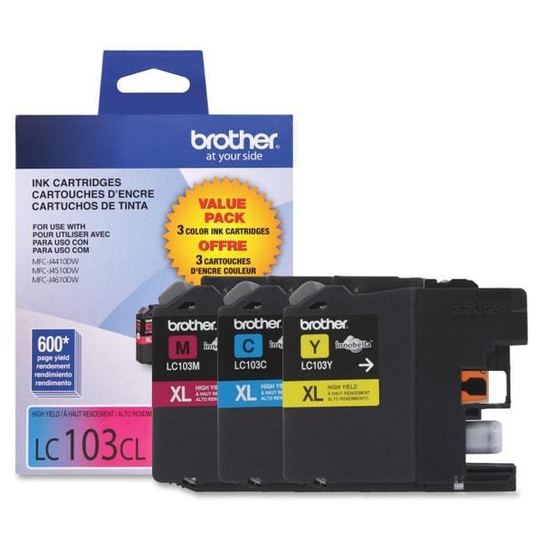Brother Innobella LC1033PKS Tri-pack Ink Cartridge - Cyan, Magenta, Y