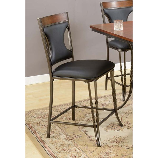 Coda Black Bar Stools (Set of 2)