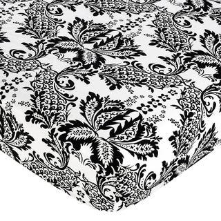 Sweet JoJo Designs Sophia Damask Fitted Crib Sheet