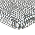 Sweet JoJo Designs Surf Plaid Fitted Crib Sheet