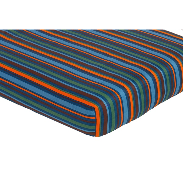 Sweet JoJo Designs Surf Stripe Fitted Crib Sheet