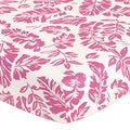 Sweet JoJo Designs Surf Leaf Print Fitted Crib Sheet
