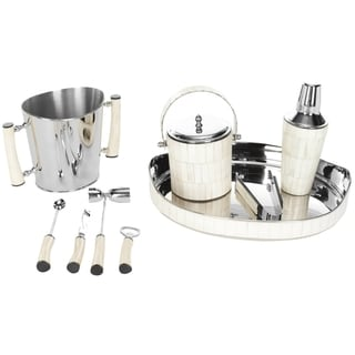 Safavieh Stainless Steel 9-piece Reclaimed Bone Bar Set