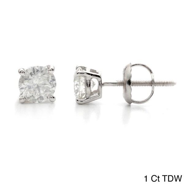 Auriya 14k White Gold 1 to 3ct TDW Clarity-Enhanced Diamond Earrings (I-J, I2-I3)