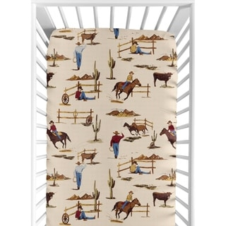 Sweet JoJo Designs Wild West Cowboy Fitted Crib Sheet