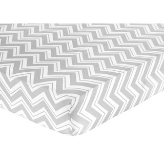 Sweet JoJo Designs Grey Zig Zag Fitted Crib Sheet