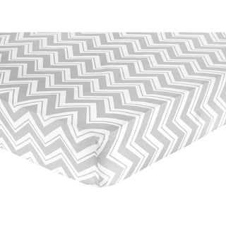 Sweet JoJo Designs Yellow and Grey Zig Zag Fitted Crib Sheet