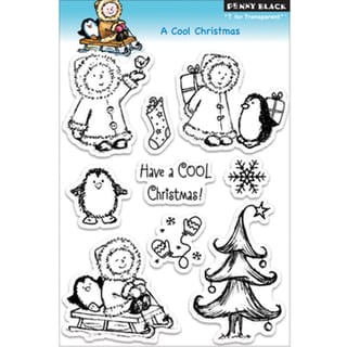 Penny Black 'A Cool Christmas' Clear Stamps Sheet
