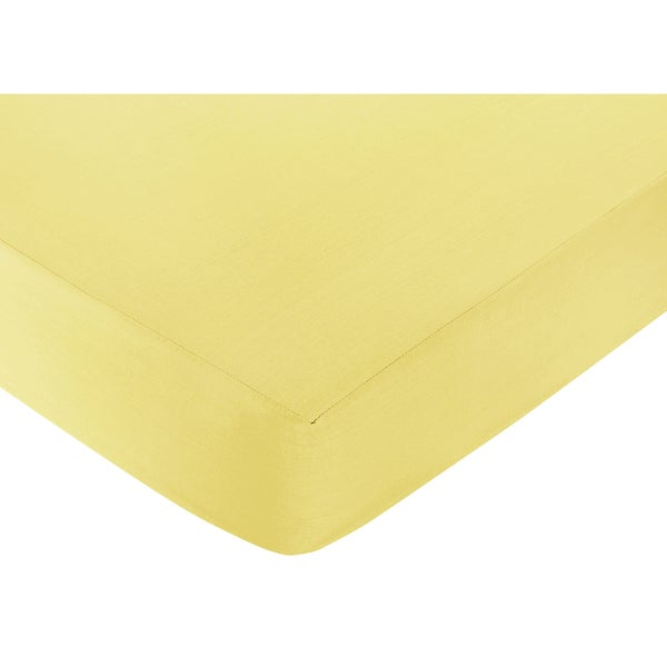 Sweet JoJo Designs Yellow Zig-Zag Print Fitted Crib Sheet