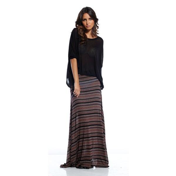 Elan Women's Striped Flair Bottom Skirt