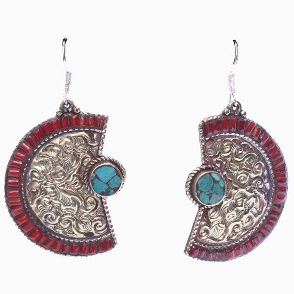 Half Moon Earrings (Nepal)