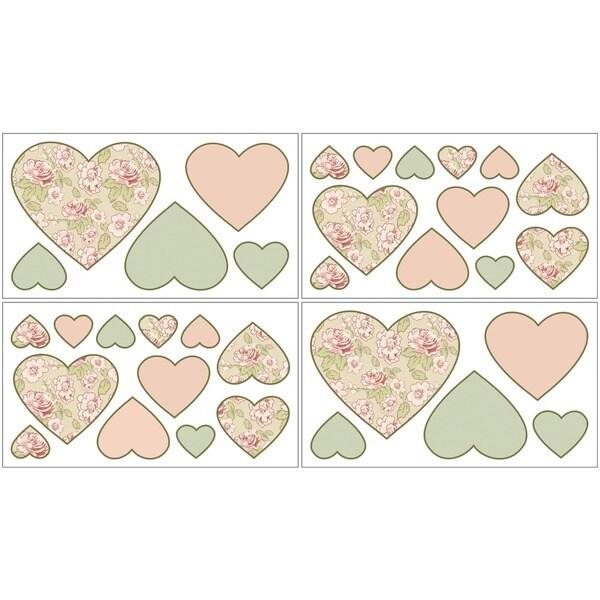 Sweet JoJo Designs Annabel Nursery Wall Decal Sheets (Set of 4)