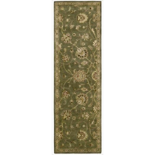 Hand-tufted Jaipur Light Green Runner Rug (2'4 x 8')