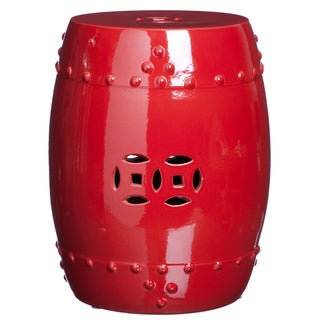 Handmade Pepper Red Porcelain Garden Stool (China)