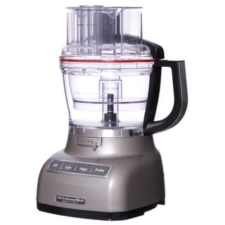KitchenAid RRKFP1344CS Cocoa Silver 13-cup Architect Food Processor with Die-cast Base (Refurbished)