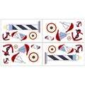 Sweet JoJo Designs Come Sail Away Wall Decal Stickers (Set of 4)