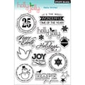 Penny Black 'Hello Winter' Cling Rubber Stamp