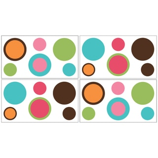 Sweet JoJo Designs Modern Deco Dot Wall Decal Stickers (Set of 4)