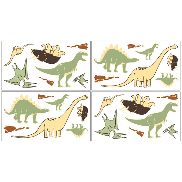 Sweet JoJo Designs Dinosaur Wall Decal Stickers (Set of 4)