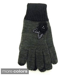 Women's Embellished 'Smartouch' Touchscreen Compatible Gloves