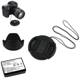 BasAcc Li-ion Battery/ Lens Cap and Hood Set for Canon EOS 7D