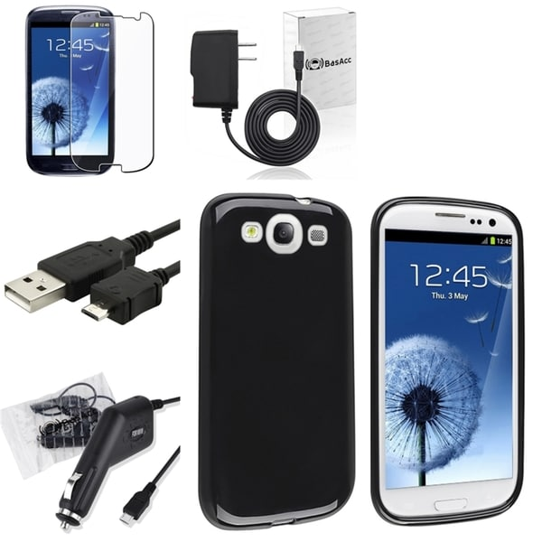 BasAcc Case and Charger Set for Samsung Galaxy S III/ S3