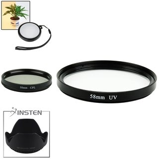 BasAcc 58-mm CPL Filter/ White Balance Lens Filter/ UV Filter/ Hood