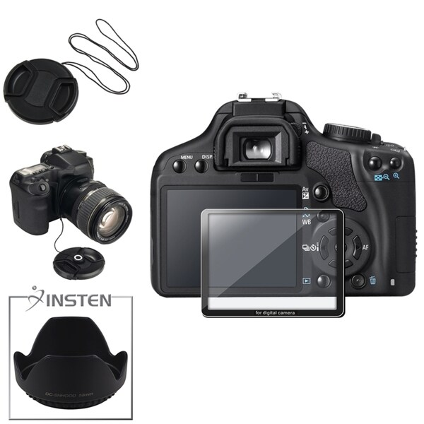 BasAcc Glass Protector/ Lens Cap/ Holder/ Hood for Canon EOS 450D