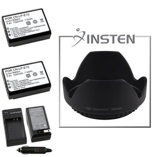 BasAcc Battery Charger/ Li-ion Battery/ Lens Hood for Canon EOS 1100D