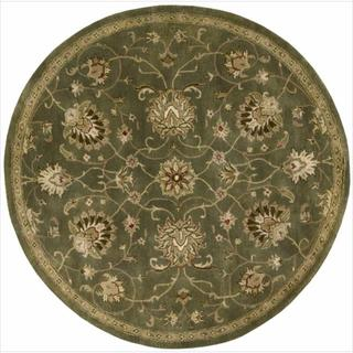 Hand Tufted Jaipur Round Light Green Rug (8' x 8)