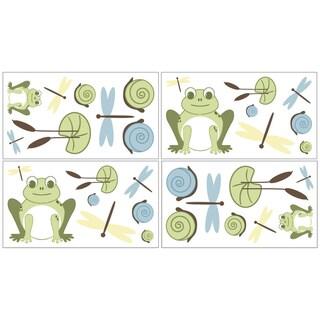 Sweet JoJo Designs Leap Frog Wall Decals (Set of 4)