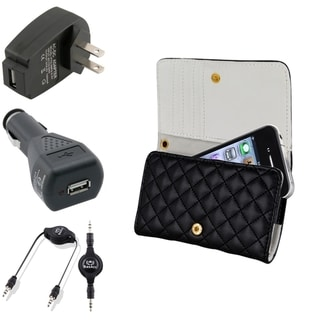 BasAcc Case/ Black Travel/ Car Charger/ Cable for Apple iPhone 4/ 4S