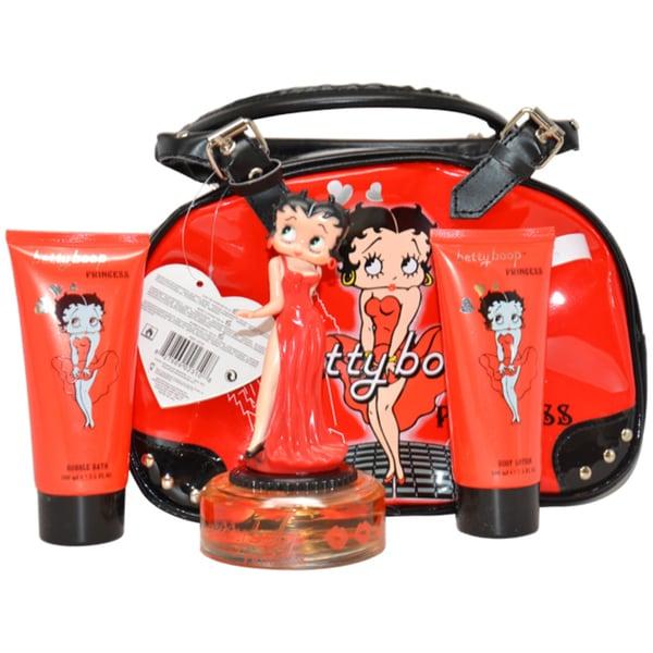 Betty Boop Princess Women's 4-piece Gift Set