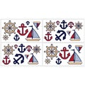 Sweet JoJo Designs Nautical Nights Wall Decal Stickers (Set of 4)