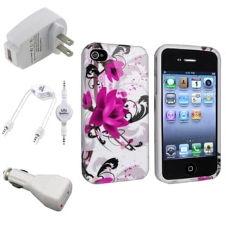 BasAcc Case and Charger Set for iPhone 4/4S