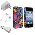 BasAcc Case/ White Travel/ Car Charger/ Cable for Apple iPhone 4/ 4S