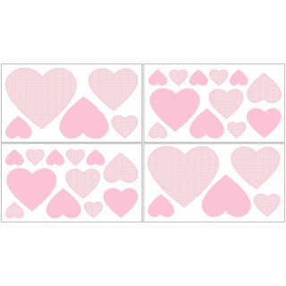 Sweet JoJo Designs Pink French Toile Wall Decals (Set of 4)