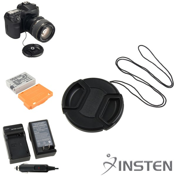 INSTEN Battery Charger/ Li-ion Battery/ Cap/ Holder for Canon EOS 550D