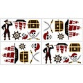 Sweet JoJo Designs Treasure Cove Pirate Wall Decals (Set of 4)