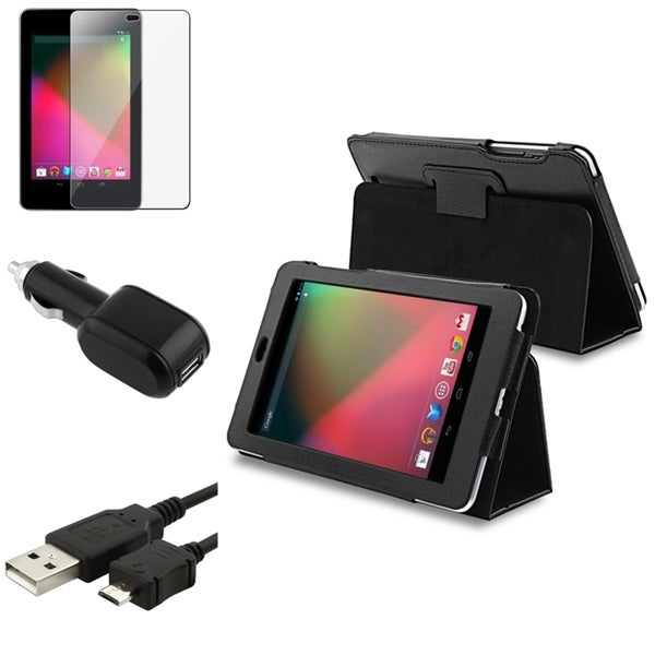 BasAcc Car Charger/ LCD Protector/ Case/ USB Cable for Google Nexus 7